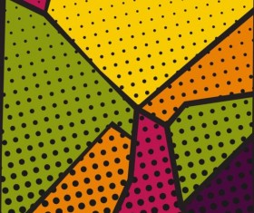 Cartoon pop-art backgrounds vectors 08