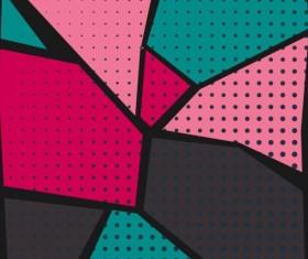 Cartoon pop-art backgrounds vectors 09