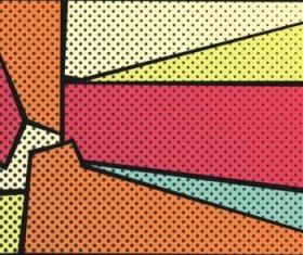 Cartoon pop-art backgrounds vectors 10