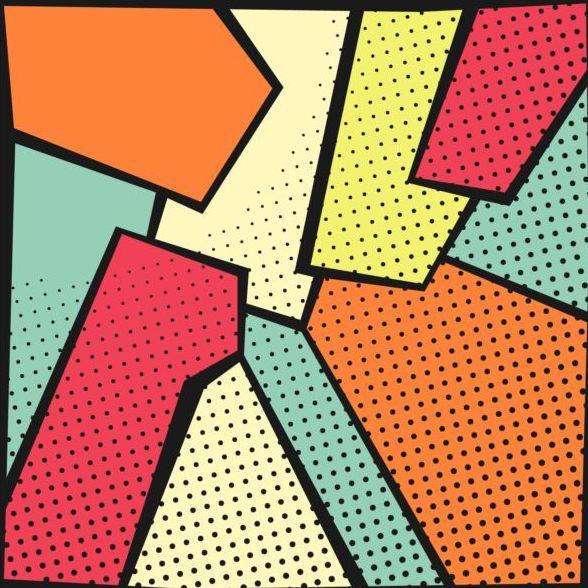 cartoon pop art backgrounds vectors 11 free download