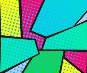 Cartoon pop-art backgrounds vectors 13