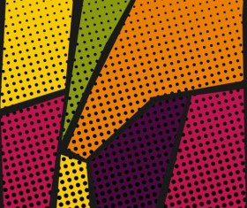 Cartoon pop-art backgrounds vectors 14