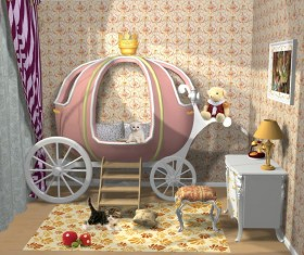 Children bedroom design Stock Photo