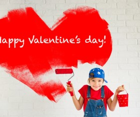 Children's heart-shaped white wall Stock Photo 04