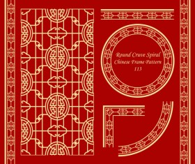 Chinese frame with ornaments vectors material 04