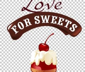 Chocolate sweet dessert label illustration vector 03