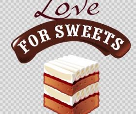 Chocolate sweet dessert label illustration vector 04