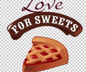 Chocolate sweet dessert label illustration vector 05