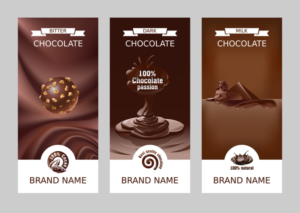 chocolate vertical banner template vectors 02 free download