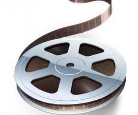 Cinema film illustration vector material 01