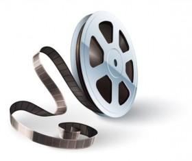 Cinema film illustration vector material 02