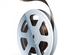Cinema film illustration vector material 03