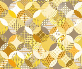 Circles seamless pattern with decor floral vector 05