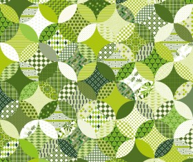 Circles seamless pattern with decor floral vector 06