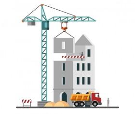 City building construction template vectors 01