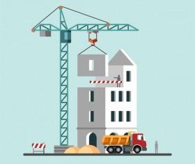 City building construction template vectors 02