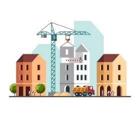 City building construction template vectors 03