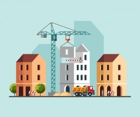 City building construction template vectors 04