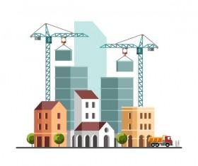 City building construction template vectors 05