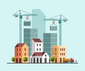 City building construction template vectors 06