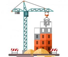 City building construction template vectors 07