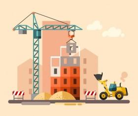 City building construction template vectors 08