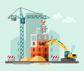 City building construction template vectors 09