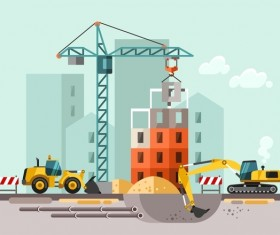 City building construction template vectors 10