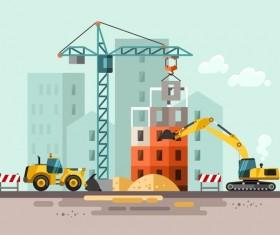 City building construction template vectors 11