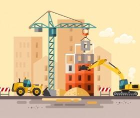 City building construction template vectors 12