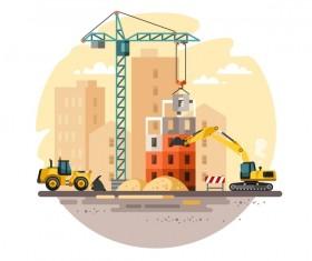 City building construction template vectors 14
