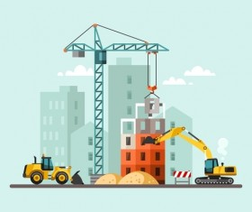 City building construction template vectors 15