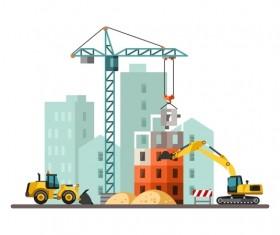 City building construction template vectors 16