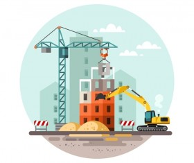 City building construction template vectors 17