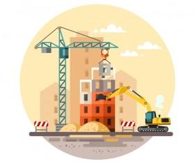 City building construction template vectors 18