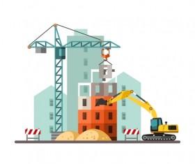 City building construction template vectors 19