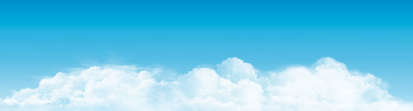 Clouds panorama banner vector
