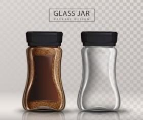 Coffee glass jar vector illustration