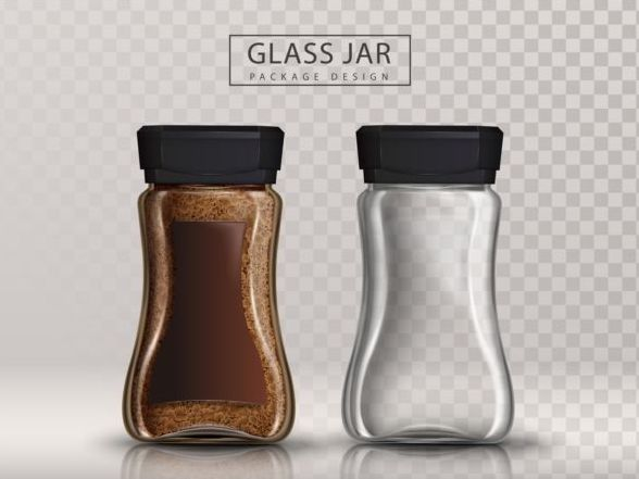 Coffee glass jar vector illustration