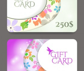 Collection gift cards with voucher vector 01