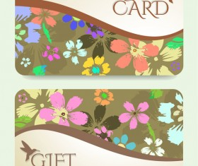 Collection gift cards with voucher vector 02