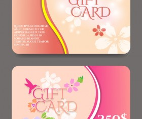 Collection gift cards with voucher vector 03
