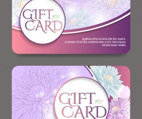 Collection gift cards with voucher vector 05