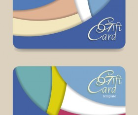 Collection gift cards with voucher vector 08
