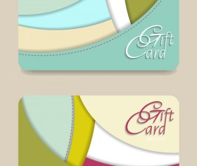 Collection gift cards with voucher vector 09
