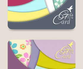 Collection gift cards with voucher vector 10
