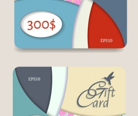 Collection gift cards with voucher vector 11