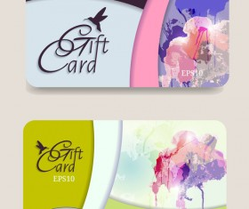 Collection gift cards with voucher vector 12