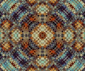 Colorful mosaic pattern seamless vectors 10