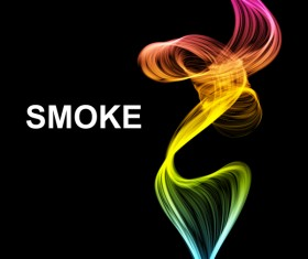 Colorful smoke abstract background vector 01